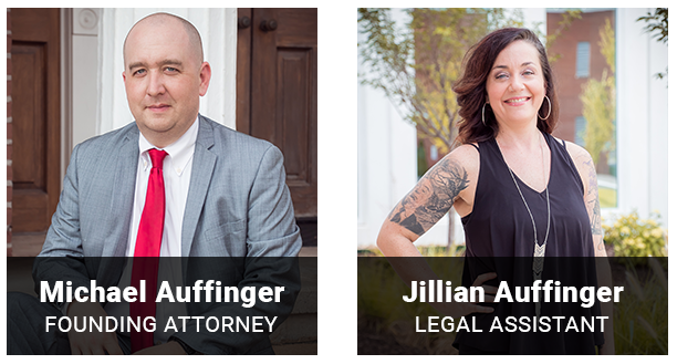Attorney Michael Auffinger and Legal Assistant Jillian Locke